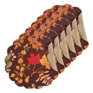 Amison Brown Round Placemat (Set of 6)