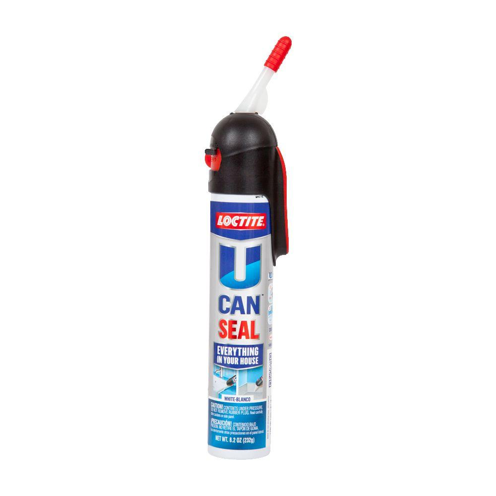 Loctite Fl Oz White UCAN Seal Pack The Home Depot - Caulk in a can