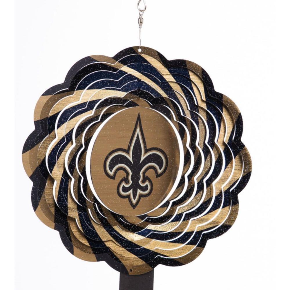 Evergreen NFL 10 in. New Orleans Saints Geo Spinner