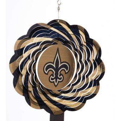 NFL 10 in. New Orleans Saints Geo Spinner