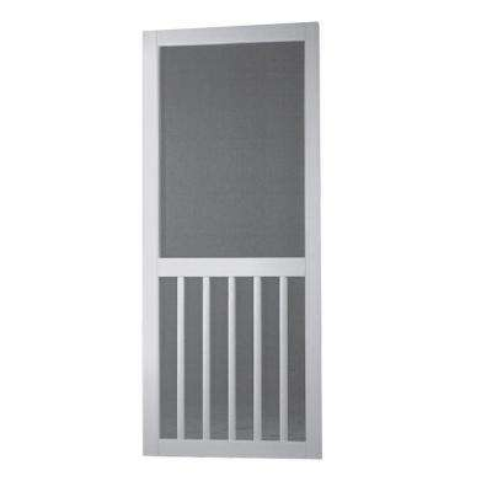 Vinyl White 5-Bar Screen Door