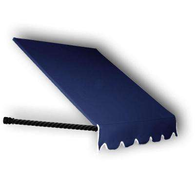 12 ft. Santa Fe Twisted Rope Arm Window Awning (56 in. H x 36 in. D) in Navy