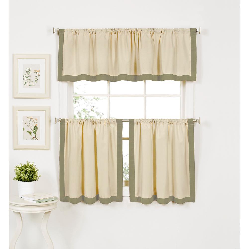 Wilton 60 in. W x 15 in. L Cotton Single Window Curtain Valance in Sage