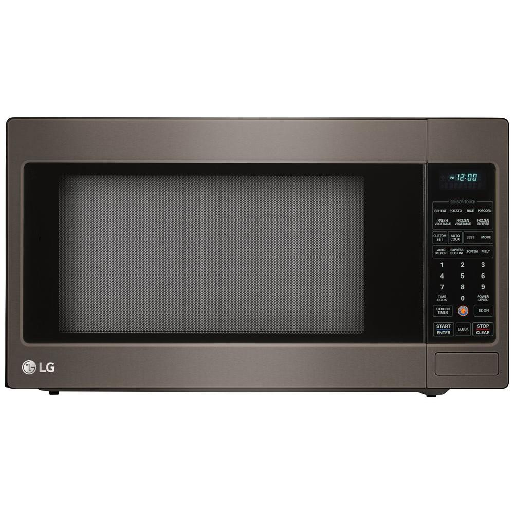 2.0 cu. ft. Countertop Microwave Oven in Black Stainless Steel