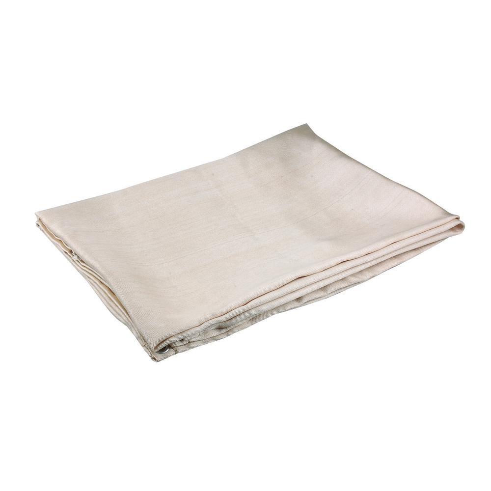 Welding Blanket 4/' x 6/' Fire Flame Retardent Fiberglass Shield Brass Grommets