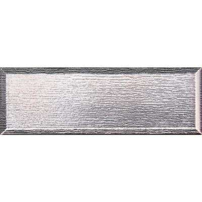 Gray Glisten 4 in. x 12 in. Beveled Glass Wall Tile (5 sq. ft. / case)