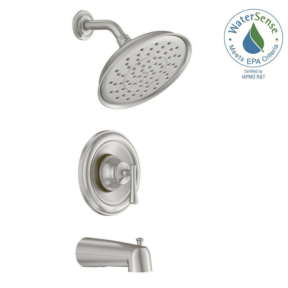 MOEN Ashville Single-Handle 1-Spray Tub and Shower Faucet with ...