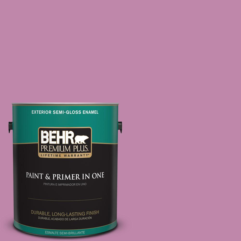 1-gal. #M120-5 Rosy Semi-Gloss Enamel Exterior Paint