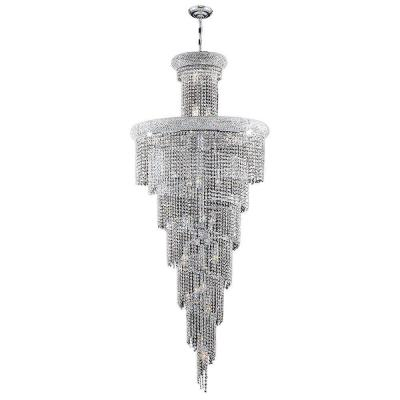 Empire 28-Light Polished Chrome Chandelier with Clear Crystal