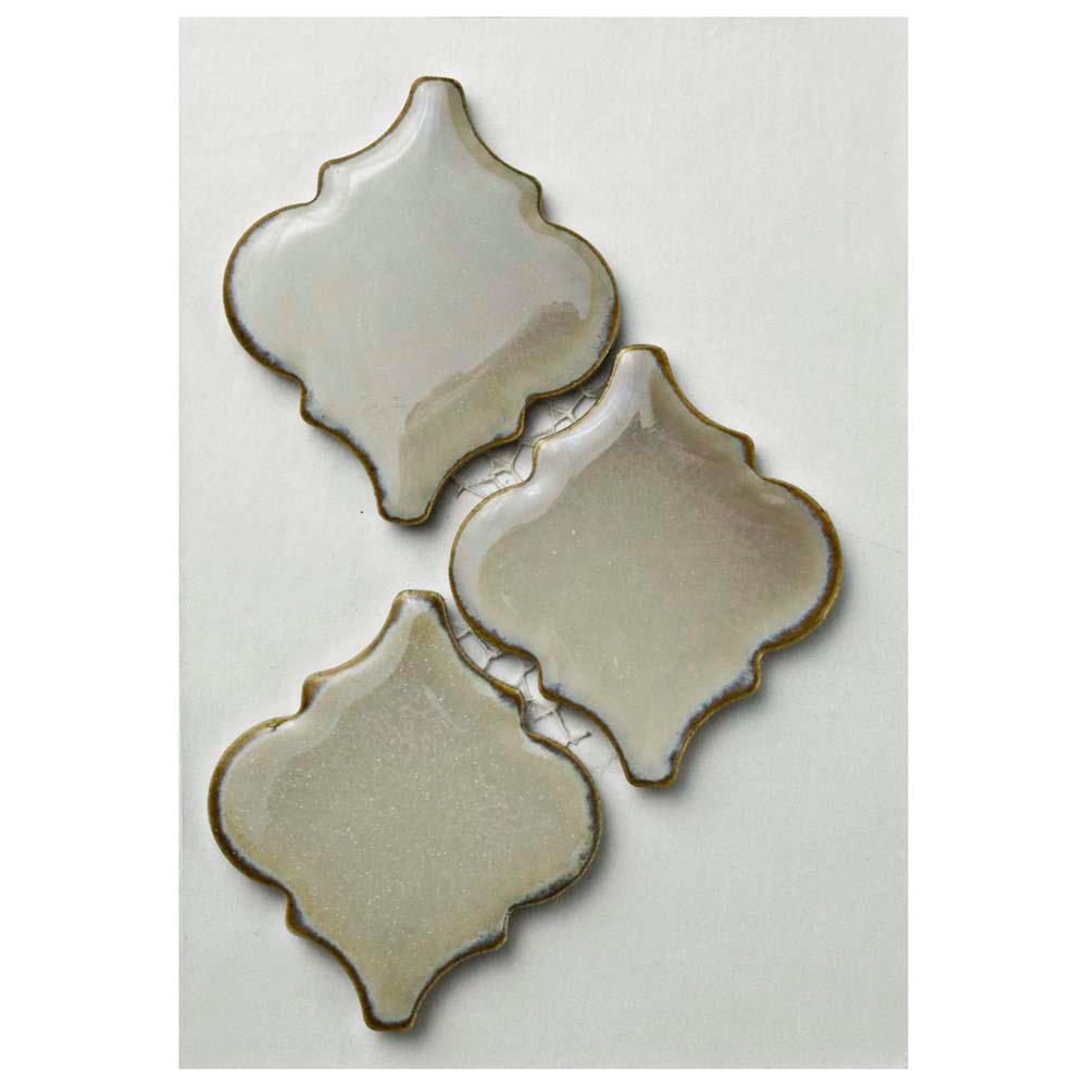 Hudson Tangier Dove Grey Porcelain Mosaic Tile - 3 in. x 4 in. Tile Sample