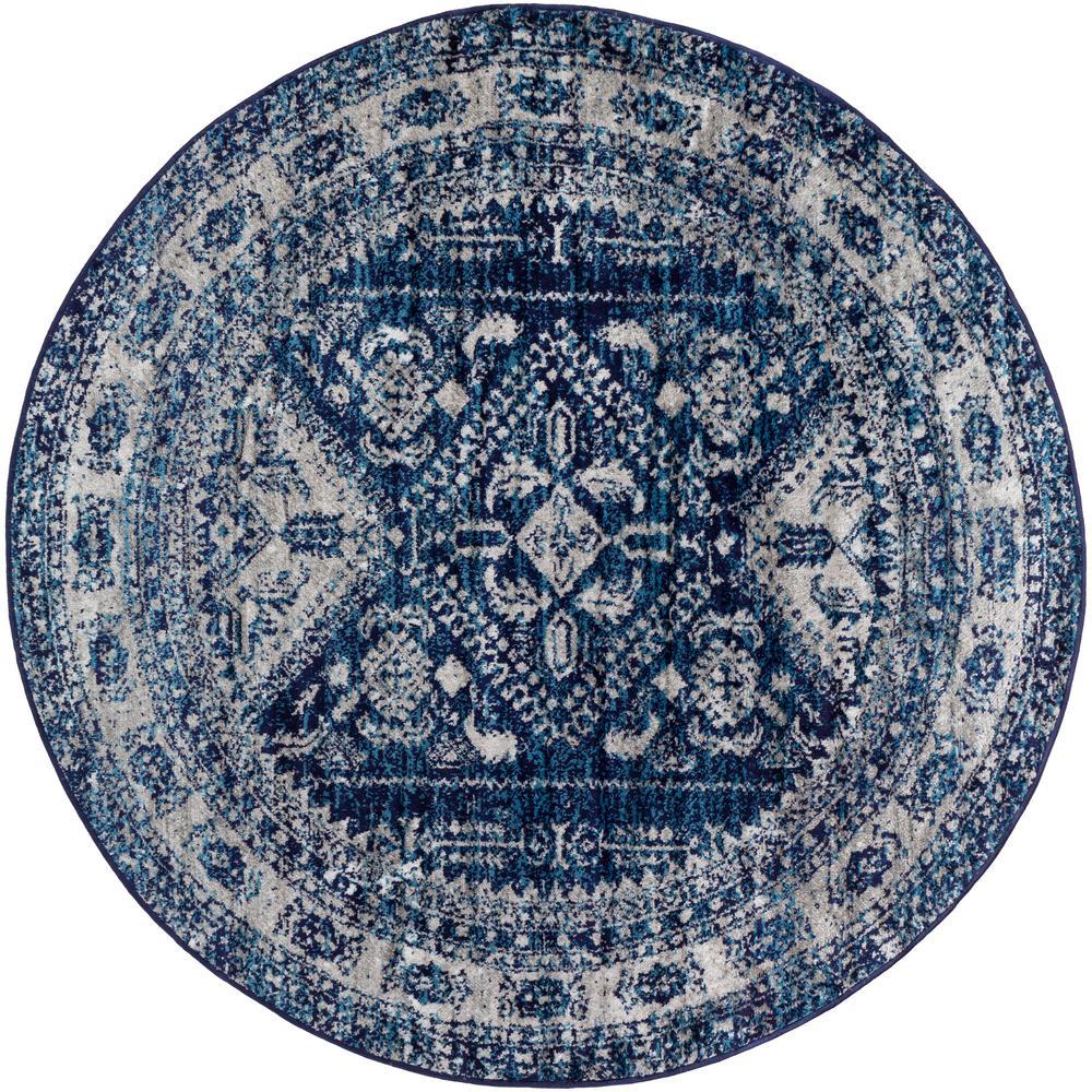 Artistic Weavers Havana Dark Navy 5 ft. 3 in. Round Area Rug, Blue was $115.0 now $74.8 (35.0% off)