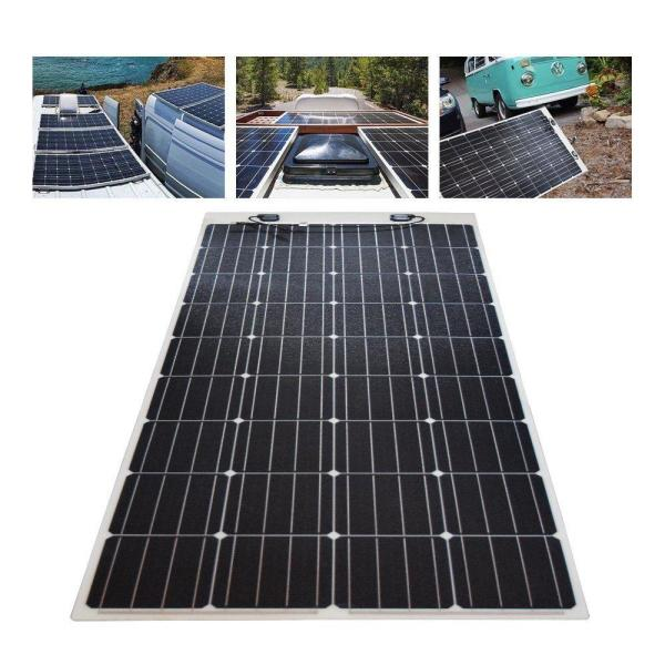 Renogy 160 Watt 12 Volt Extremely Flexible Monocrystalline Solar Panel Ultra Lightweight Rng 160db H The Home Depot