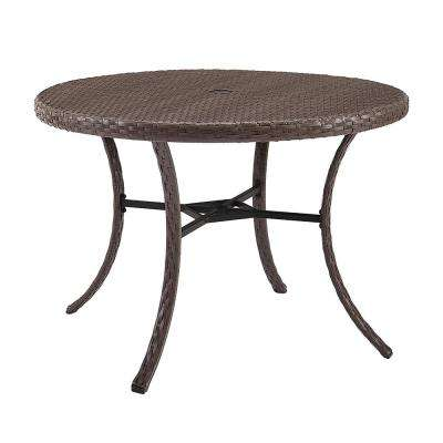 Tribeca Round Wicker Outdoor Dining Table