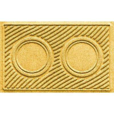 Yellow 18 in. x 28 in. Dog Bowl Wave Pet Mat