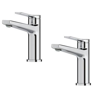 Indy Single Hole Single-Handle Bathroom Faucet in Chrome (2 Pack)
