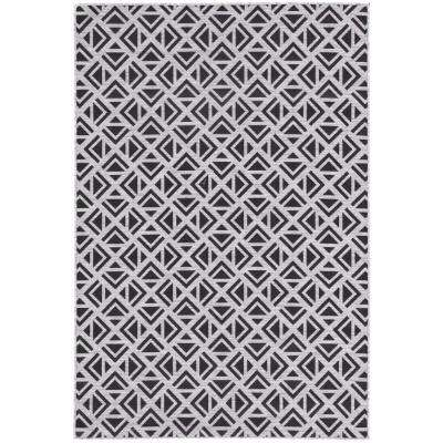 Decora by Nikki Chu Light Gray 5 ft. 3 in. x 7 ft.6 in. Geometric Rectangle Indoor-Outdoor Area Rug