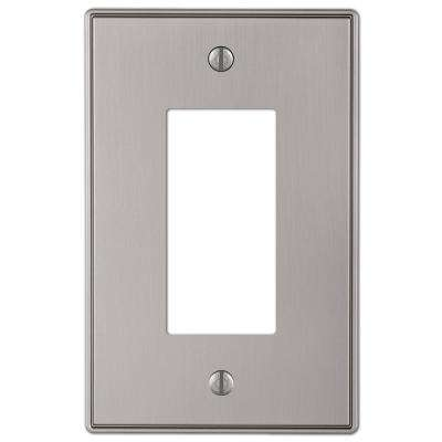 Ansley 1 Gang Rocker Metal Wall Plate - Brushed Nickel