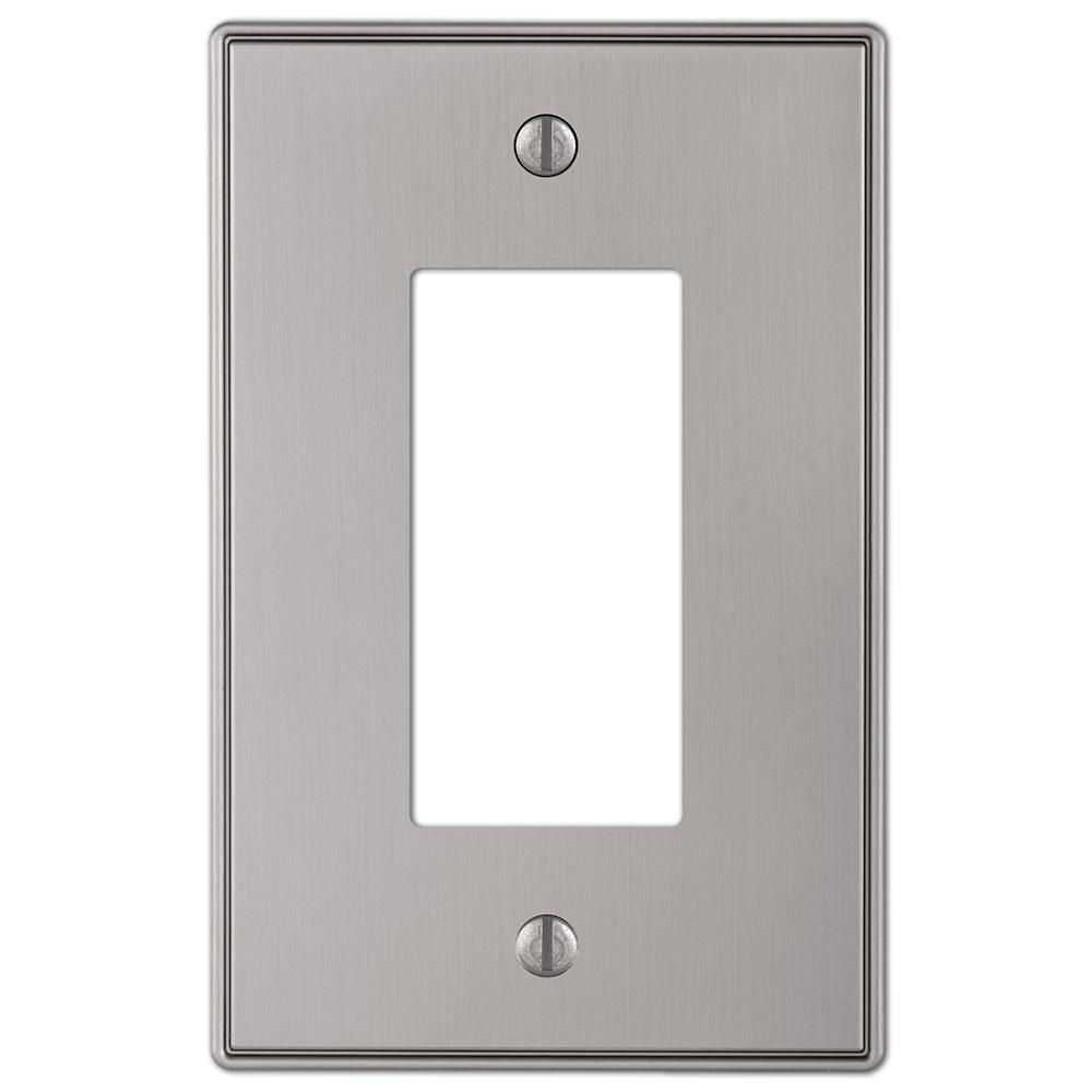 Hampton Bay Ansley Cast 1 Decora Wall Plate Brushed Nickel