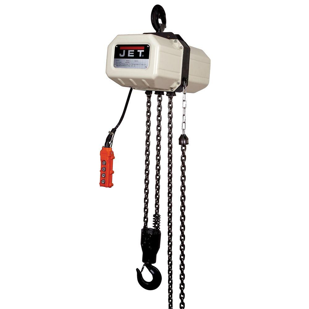 jet 1 ton capacity 15 ft lift electric chain hoist 1 phase 115 on  for lift electric chain hoist 1 phase 115 at