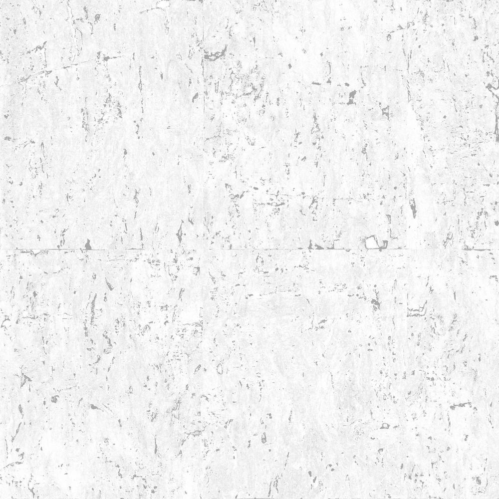 Graham Brown Cork Light Gray Silver Vinyl Peelable Wallpaper Covers 56 Sq Ft 102963 The Home Depot