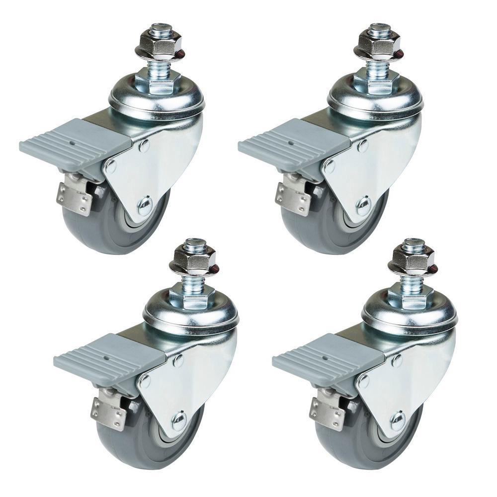 POWERTEC Dual-Locking Swivel Caster Set (4-Pack)