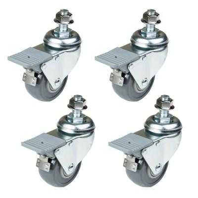 Dual-Locking Swivel Caster Set (4-Pack)