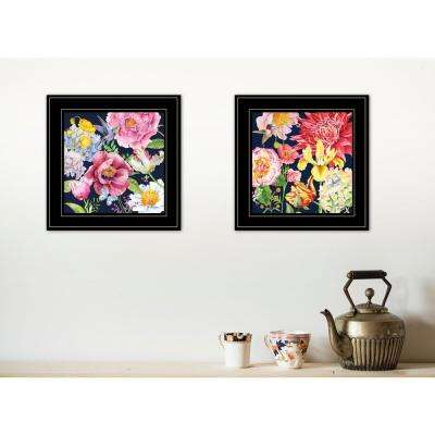 """""""Navy English Garden I and II"""" by Barb Tourtillotte Framed Wall Art"""