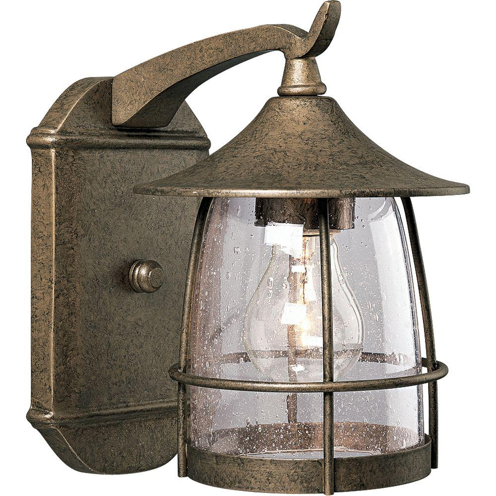 Progress Lighting Prairie Collection Burnished Chestnut Outdoor Wall Lantern