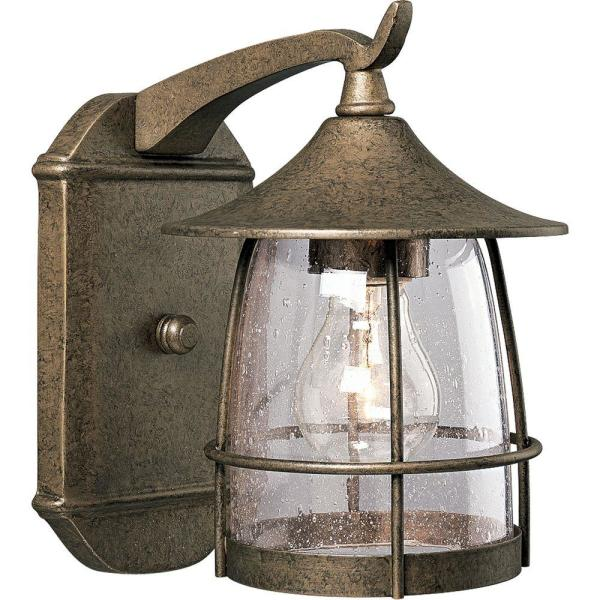 Prairie Collection Burnished Chestnut 9.1 in. Outdoor Wall Lantern Sconce