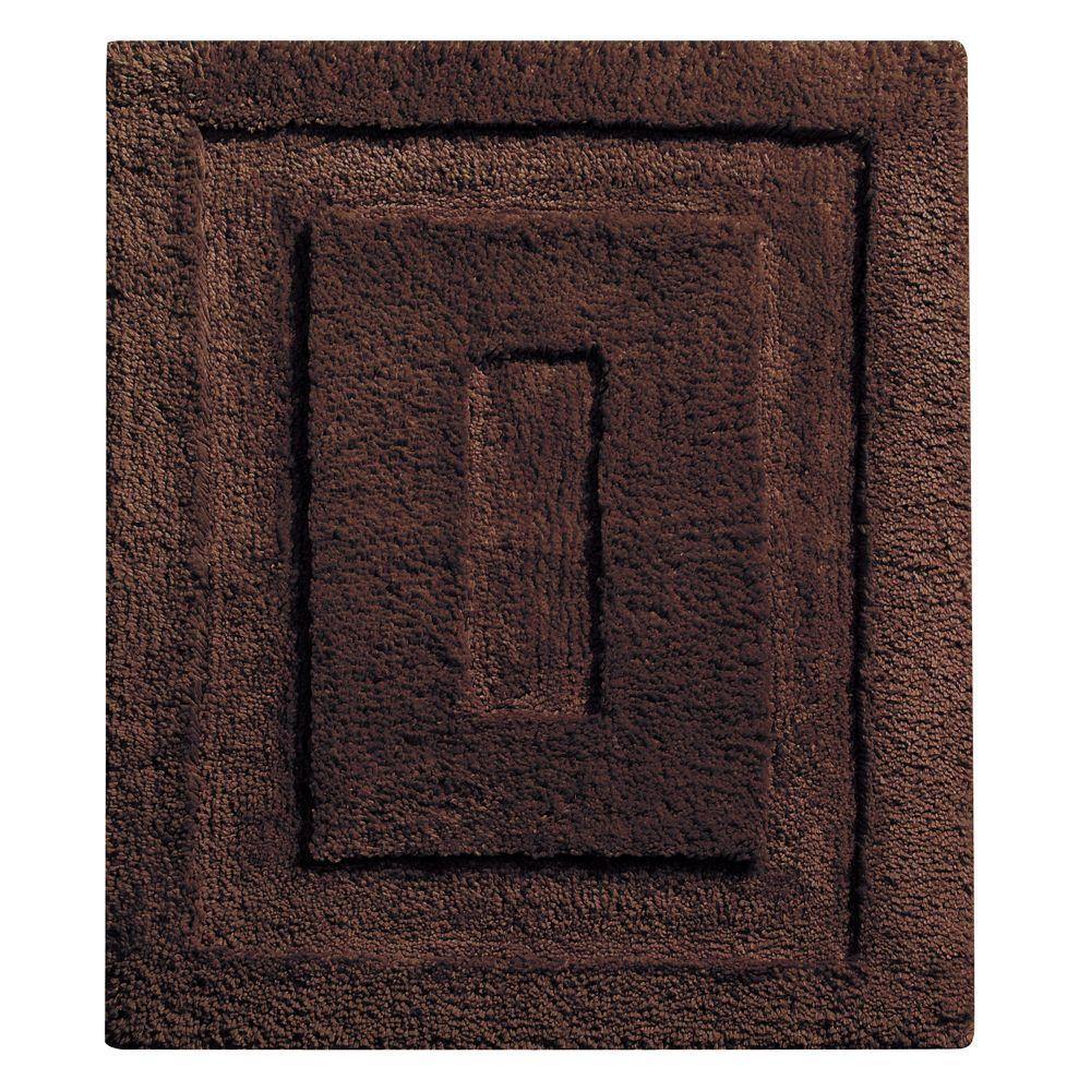 Interdesign 21 In X 17 In Spa Small Bath Rug In Chocolate 17039