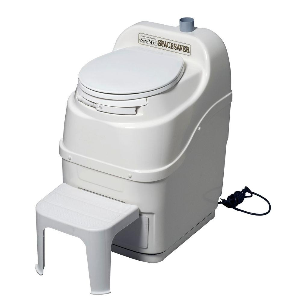Sun-Mar Spacesaver Electric Waterless Self Contained Composting Toilet in White