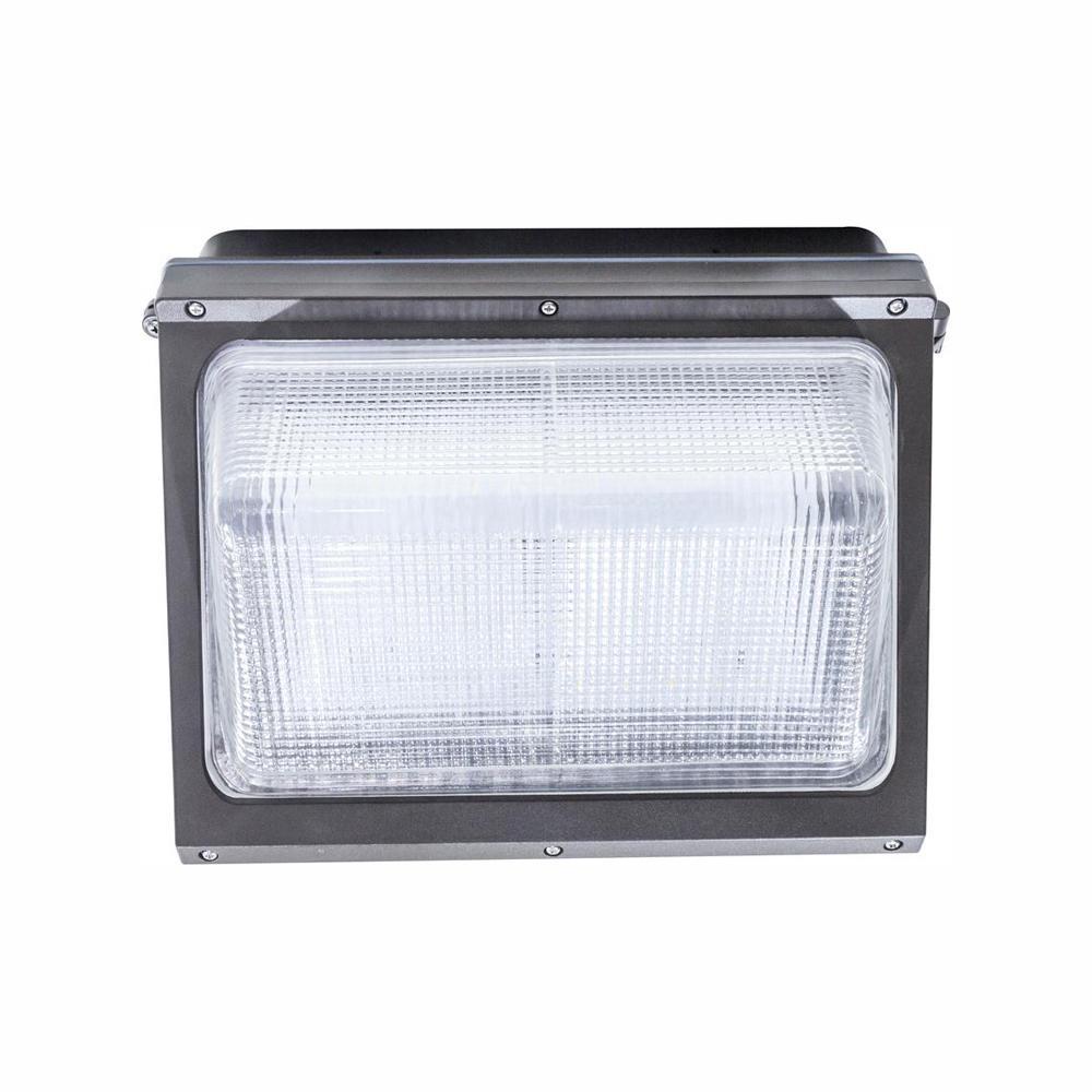 Honeywell 42-Watt anium Gray Integrated LED Outdoor Wall Pack ... on
