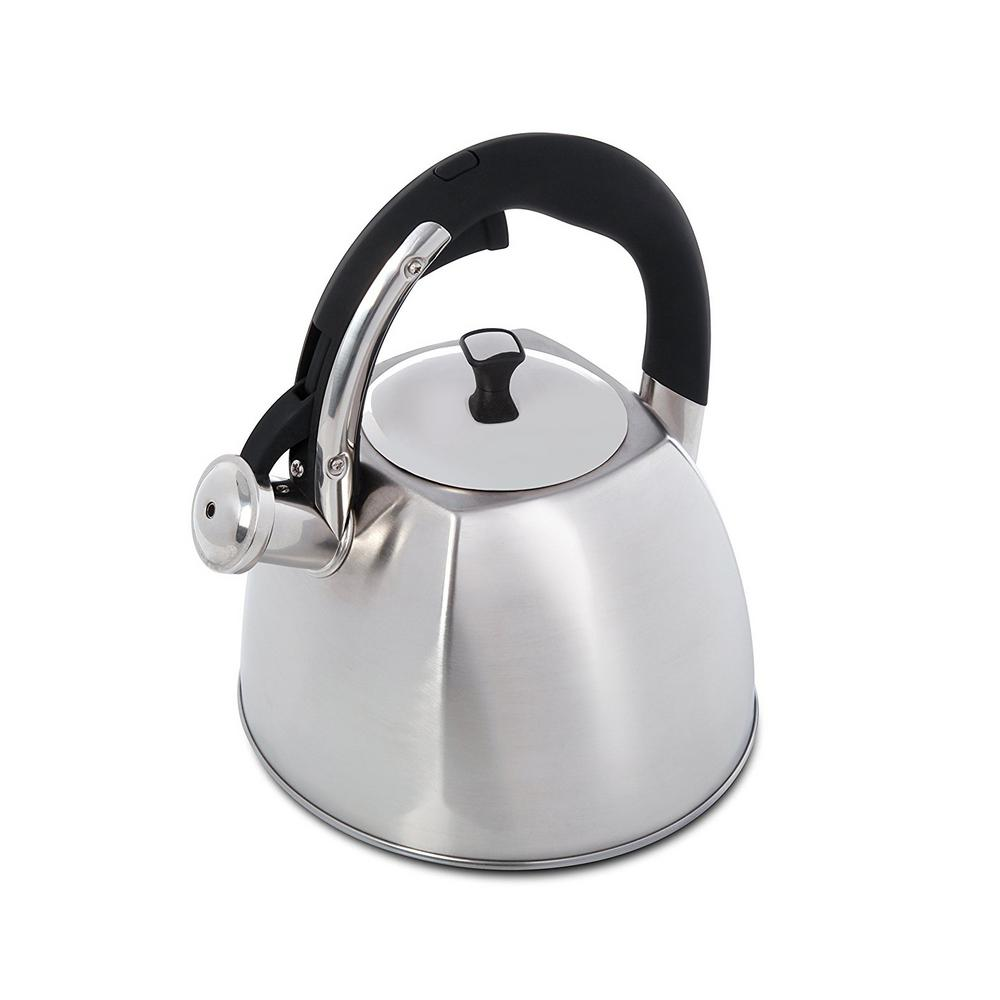 Belgrove 10-Cup Brushed Stainless Steel Tea Kettle