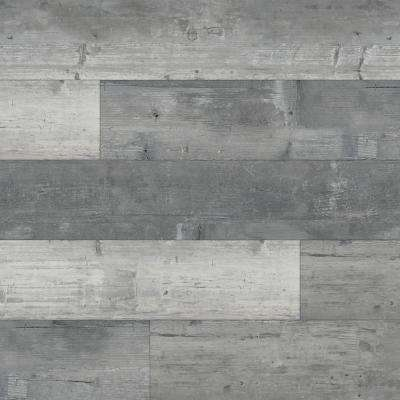 Piedmont Harlan Gray 7 in. x 48 in. Rigid Core Luxury Vinyl Plank Flooring (23.8 sq. ft. / case)