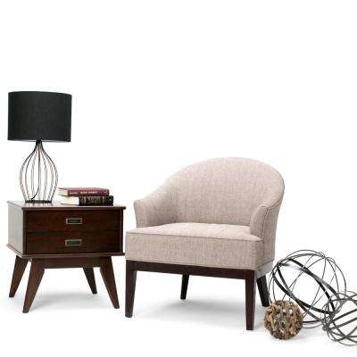 Louise Taupe Fabric Arm Chair