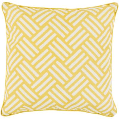 Bonnie Yellow Geometric Polyester 16 in. x 16 in. Throw Pillow