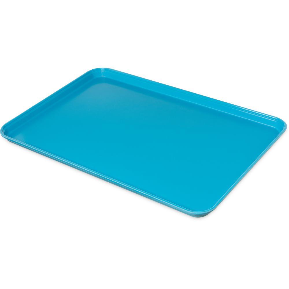 Glasteel 17.9 in. x 1.25 x 25.6 in. Caribbean Blue Fiberglass Market Tray (6-Pack)