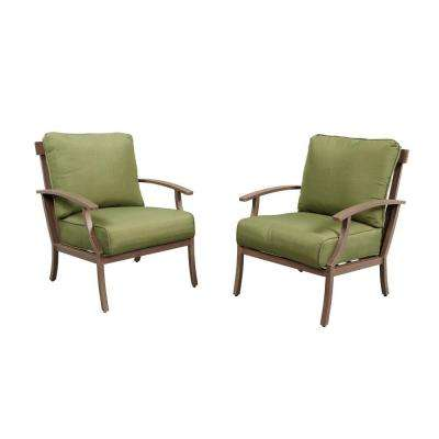 Bloomfield Woven Patio Lounge Chair With Moss Cushion (2 Pack)