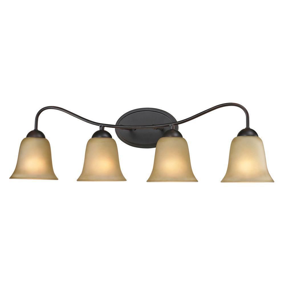 Titan Lighting Conway 4-Light Oil-Rubbed Bronze Wall Mount Bath Bar Light