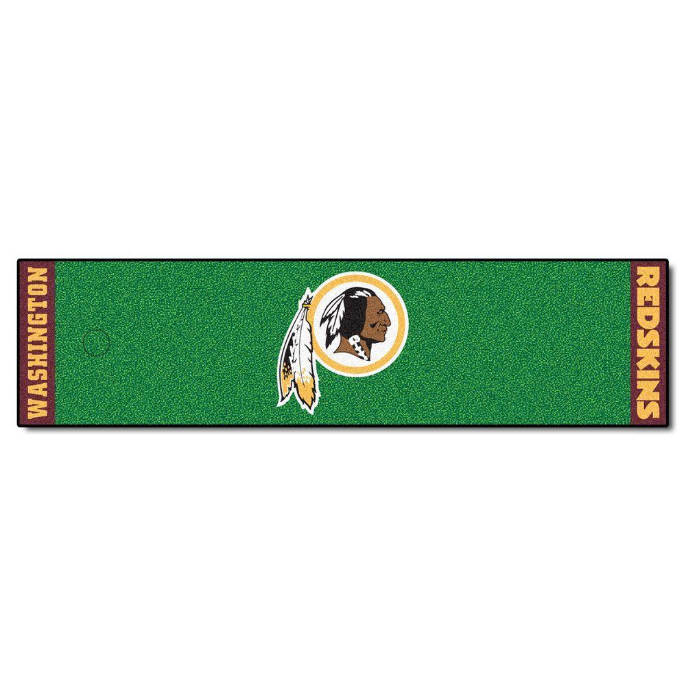 NFL Washington Redskins 1 ft. 6 in. x 6 ft. Indoor 1-Hole Golf Practice Putting Green