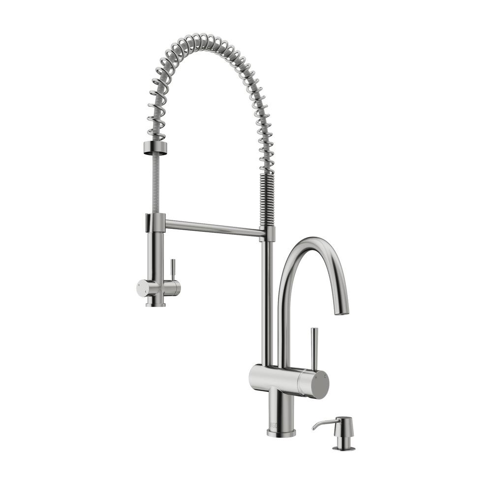 VIGO Dresden Single-Handle Pull-Down Sprayer Kitchen Faucet with ...