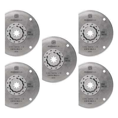 4 in. High-Speed Steel Segmented Saw Blade Starlock Plus (5-Pack)
