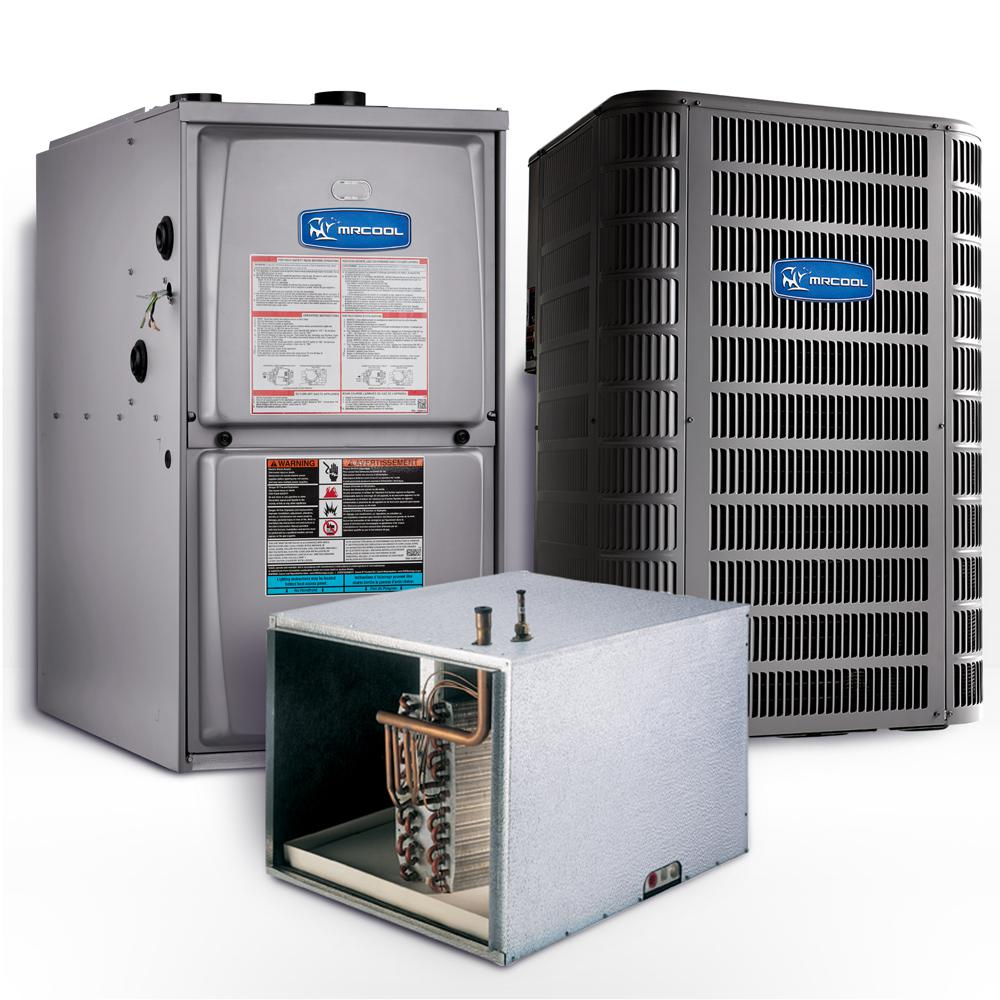 MRCOOL Signature 4 Ton 15.1 SEER Horizontal 95% AFUE 110,000 BTU Complete Split System Air Conditioner with Gas Furnace