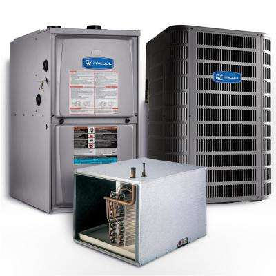 Signature 4 Ton 15.1 SEER Horizontal 95% AFUE 110,000 BTU Complete Split System Air Conditioner with Gas Furnace