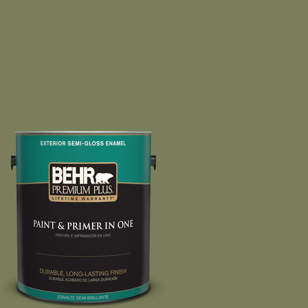 1-gal. #410F-6 Grape Vine Semi-Gloss Enamel Exterior Paint