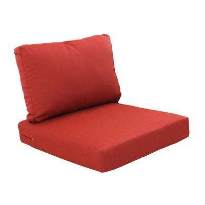 Beverly Cardinal Replacement 2-Piece Outdoor Sectional Chair Cushion Set