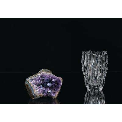 Quartz 6 in. Crystal Decorative Vase in Clear