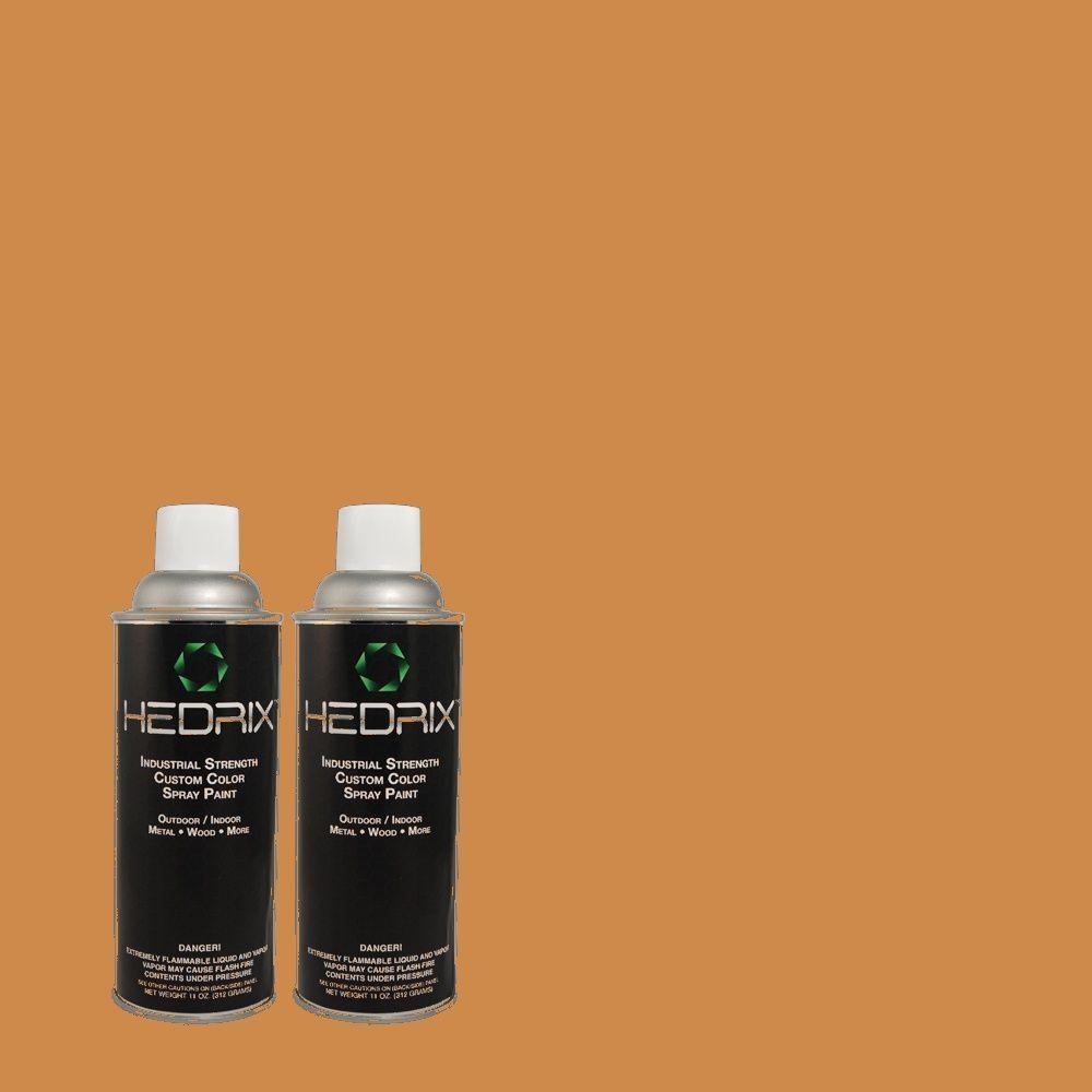 Hedrix 11 oz. Match of PPU4-3 Butter Rum Gloss Custom Spray Paint (2-Pack)