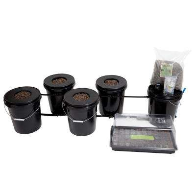 Recirculating Deep Water Culture (DWC) 4-Bucket Hydroponic System Kit