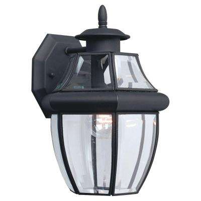 Lancaster 1-Light Small Black Outdoor Wall Fixture